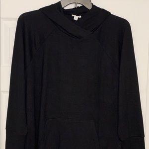 Lularoe XL solid black pullover Amber hoodie